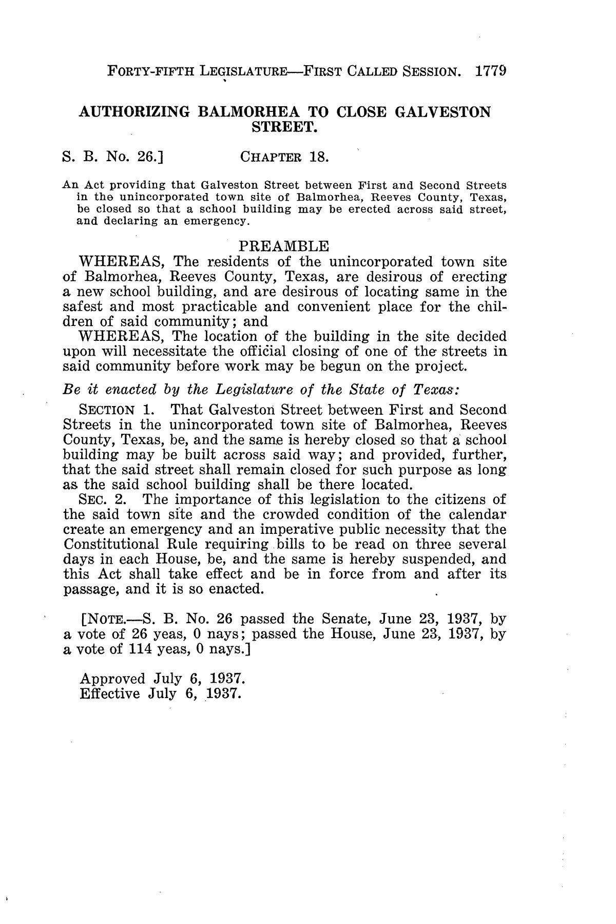 The Laws of Texas, 1937-1939 [Volume 31]                                                                                                      [Sequence #]: 51 of 1313