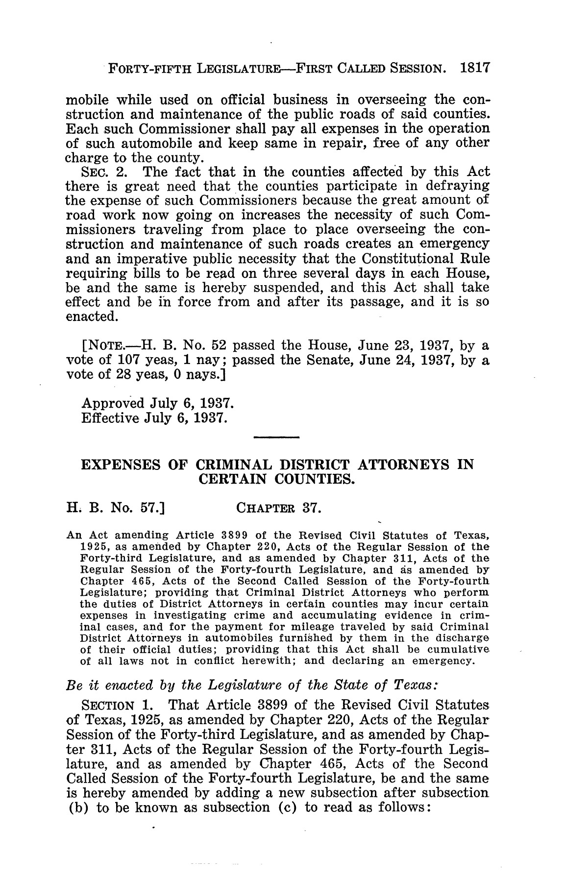 The Laws of Texas, 1937-1939 [Volume 31]                                                                                                      [Sequence #]: 89 of 1313