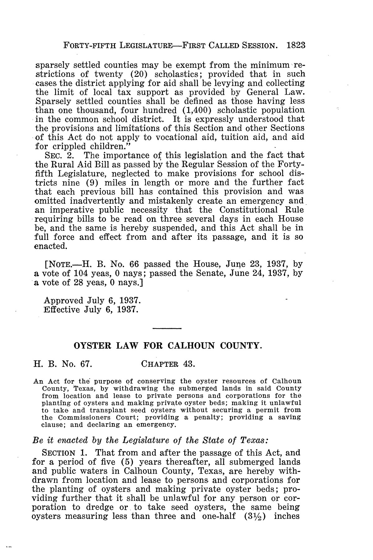 The Laws of Texas, 1937-1939 [Volume 31]                                                                                                      [Sequence #]: 95 of 1313