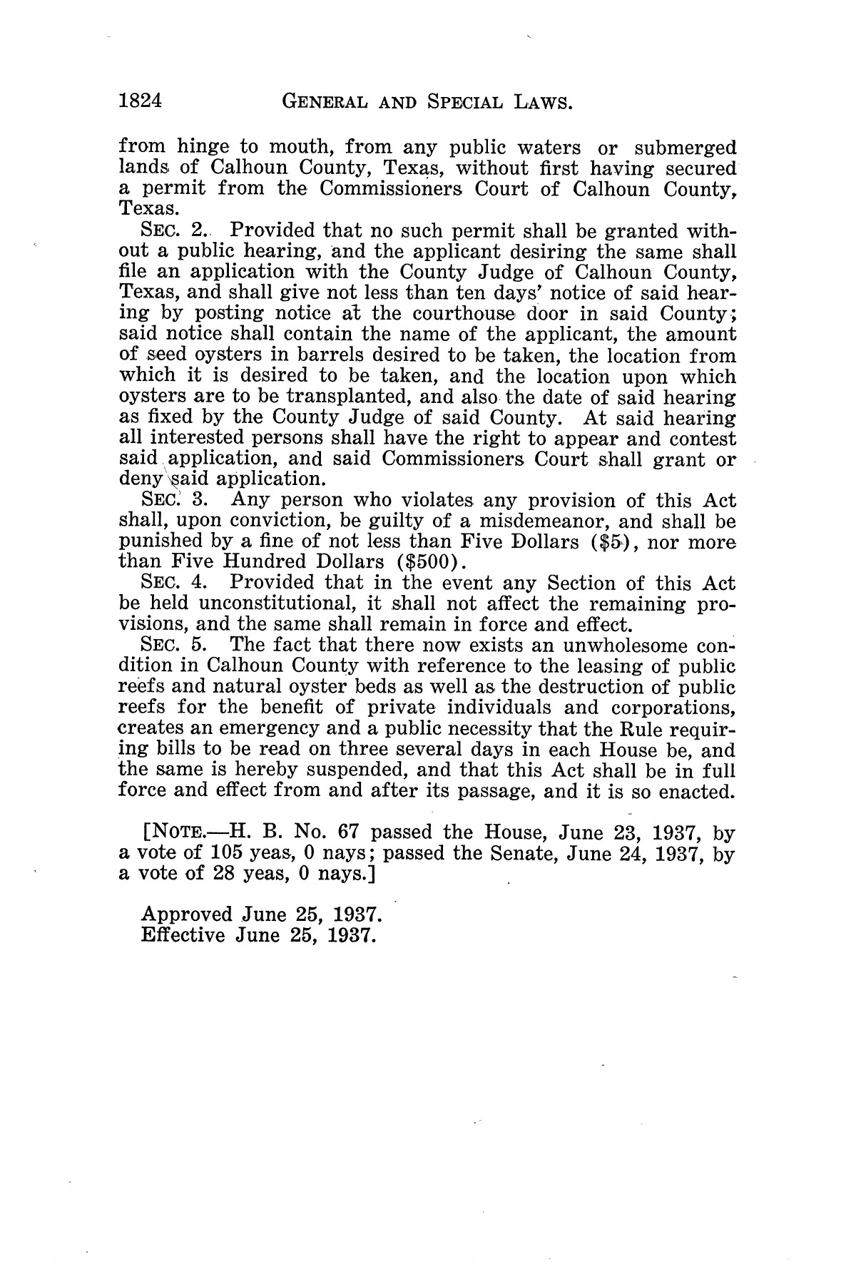 The Laws of Texas, 1937-1939 [Volume 31]                                                                                                      [Sequence #]: 96 of 1313