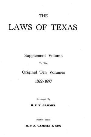 Primary view of object titled 'The Laws of Texas, 1935-1937 [Volume 30]'.
