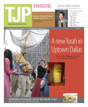 Primary view of object titled 'Texas Jewish Post (Fort Worth, Tex.), Vol. 65, No. 9, Ed. 1 Thursday, March 3, 2011'.