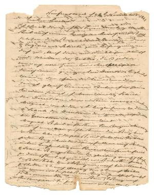 Primary view of object titled '[Letter from Ludwig Huth to Ferdinand Louis Huth, November 24, 1843]'.