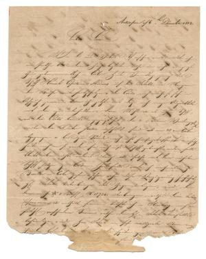 Primary view of object titled '[Letter from August Huth to Ferdinand Louis Huth, December 6, 1843]'.
