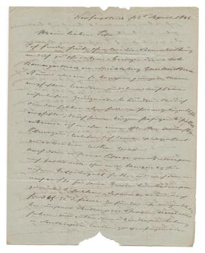 Primary view of [Letter from Ludwig Huth to Ferdinand Louis Huth, April 16, 1846]