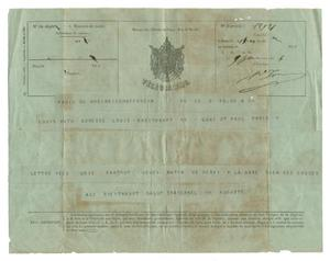 Primary view of object titled '[Telegram from August Huth to Louis Huth, June, 1866]'.