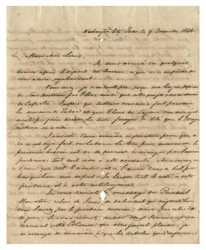 Primary view of object titled '[Letter from Henri Castro to Ferdinand Louis Huth, December 9, 1844]'.