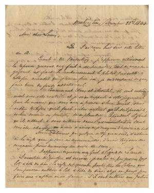 Primary view of object titled '[Letter from Henri Castro to Ferdinand Louis Huth, December 22, 1844]'.