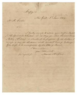 Primary view of object titled '[Letter from James Holford to H. Castro, June 3, 1844]'.