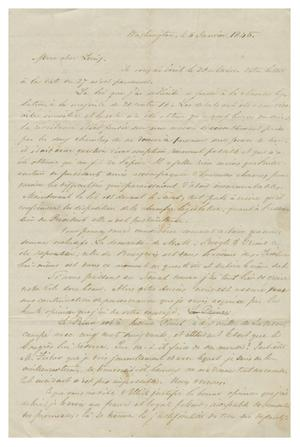 Primary view of object titled '[Letter from Henri Castro to Ferdinand Louis Huth, January, 1845]'.