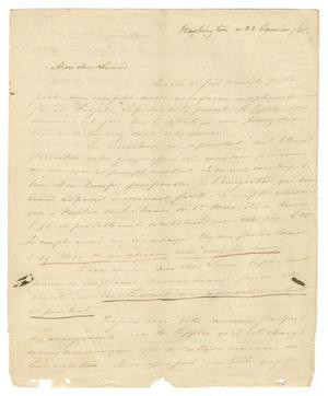 Primary view of object titled '[Letter from Henri Castro to Ferdinand Louis Huth, January, 23, 1845]'.
