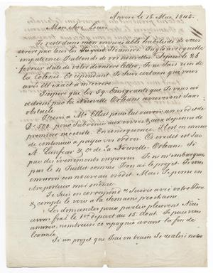Primary view of [Letter from Henri Castro to Ferdinand Louis Huth, May 15, 1845]