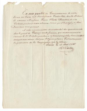 [Document appointing Ferdinand Louis Huth Director of Castroville, August 15, 1855]