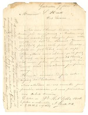 Primary view of object titled '[Letter from A. Laude to Ferdinand Louis Huth, February 7, 1845]'.