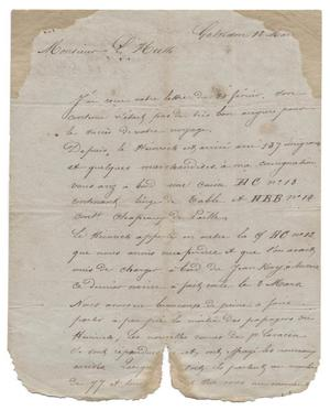 Primary view of object titled '[Letter from H. A. Cobb to Ferdinand Louis Huth, March 12, 1844]'.