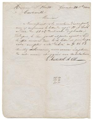 Primary view of object titled '[Letter from E. Martin and H. A. Cobb to Ferdinand Louis Huth, November 21, 1844]'.