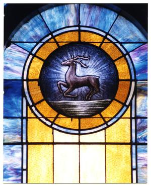 [Stained Glass Window Pane of a Buck]