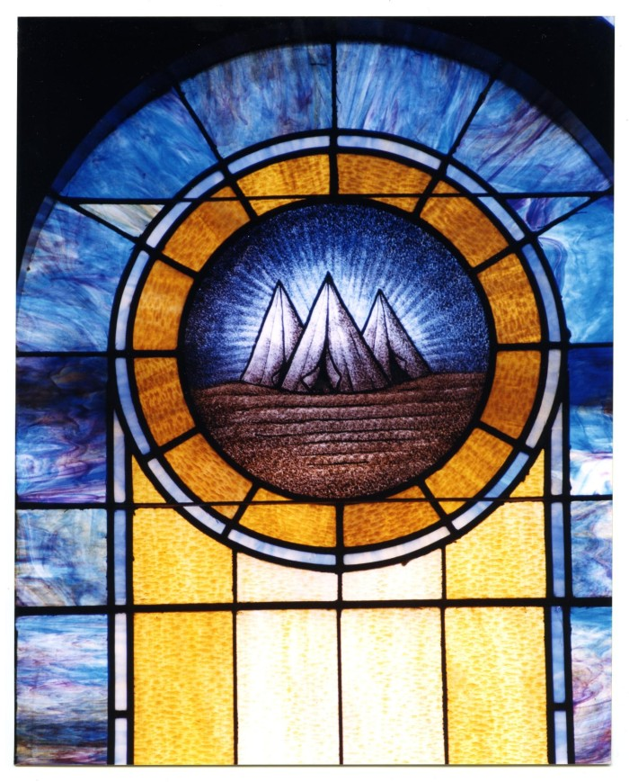 Stained Gl Window Pane Of Military Tents The Portal To