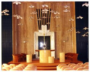 Primary view of object titled '[Ark and Bimah, main sanctuary at Beth-El Congregation]'.