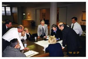 Primary view of object titled '[Beth-El Congregation Building Committee Discussing Plans]'.