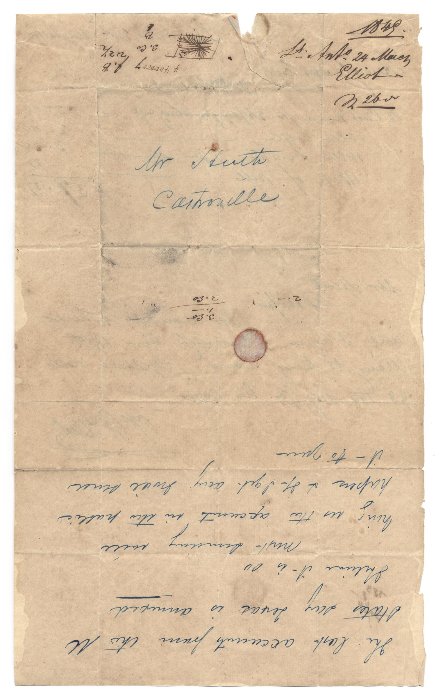[Letter from Wm. Elliot to Ferdinand Louis Huth, March 24, 1845]                                                                                                      [Sequence #]: 2 of 2