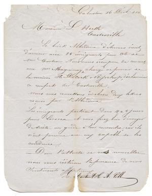 Primary view of object titled '[Letter from E. Martin and H. A. Cobb to Ferdinand Louis Huth, December 16, 1845]'.