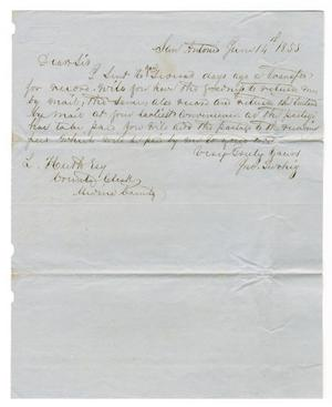 Primary view of object titled '[Letter from Jno. Twohig to Ferdinand Louis Huth, June 14, 1855]'.