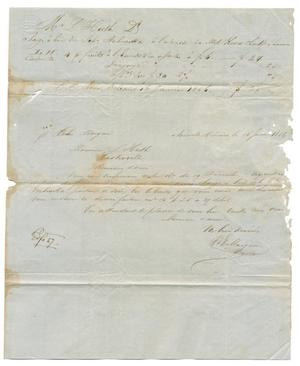 Primary view of object titled '[Letter from V. E. Maignan to Ferdinand Louis Huth, January 16, 1856]'.