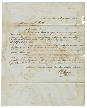 Primary view of object titled '[Letter from V. E. Maignan to Ferdinand Louis Huth, April 9, 1856]'.