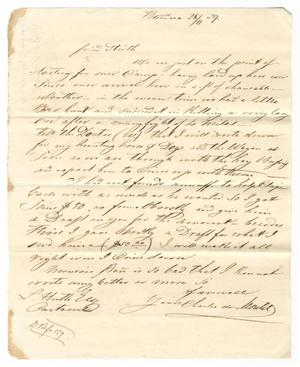 Primary view of [Letter from Charles de Montel to Ferdinand Louis Huth, November 28, 1858]