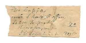 Primary view of object titled '[Receipt, February 14, 1846]'.