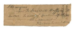 Primary view of object titled '[Receipt for $1.20, December 28, 1845]'.
