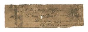 Primary view of object titled '[Receipt for $3.20, December 28, 1845]'.