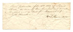 Primary view of object titled '[Receipt for $117.90, February 16, 1854]'.
