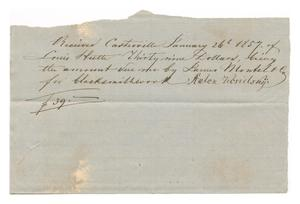 Primary view of object titled '[Receipt for $39, January 26, 1857]'.