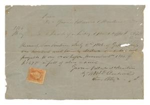 Primary view of object titled '[Receipt for $120, July 2, 1866]'.