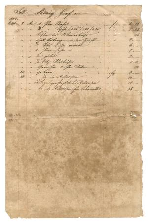 Primary view of object titled '[Balance sheet showing financial transactions, 1840-1843]'.