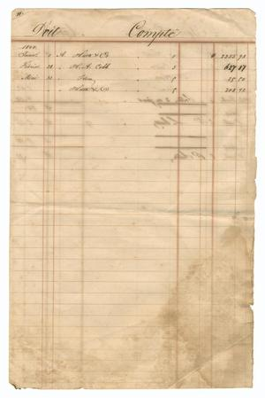 [Balance sheet showing financial transactions, January 1844 to December 1846]