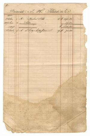 Primary view of object titled '[Balance sheet showing financial transactions, October 1846 to July 1847]'.