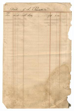 Primary view of object titled '[Balance sheet showing financial transactions, December 1846 to June 1847]'.