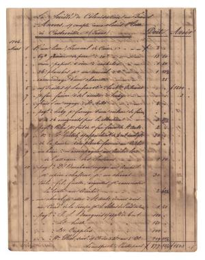 Primary view of object titled '[Balance sheets showing financial transactions, March 1846 to September 1846]'.