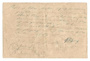 Primary view of object titled '[Receipt for delivery of goods, June 11, 1844]'.