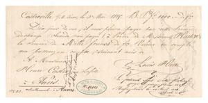 Primary view of object titled '[Two documents requesting payment, May 3, 1845 and May 3, 1846]'.