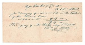 Primary view of object titled '[Receipt for $27, May 6, 1846]'.
