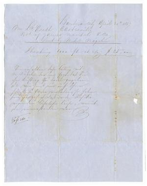 Primary view of object titled '[Document regarding a consignment of sheathing, April 20, 1857]'.