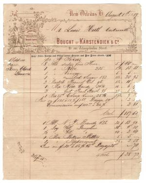 Primary view of object titled '[Receipt for goods, August 1, 1859]'.
