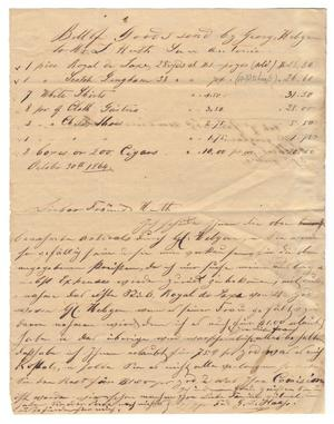 Primary view of object titled '[Letter from G. L. Haas to Huth, October 30, 1864]'.