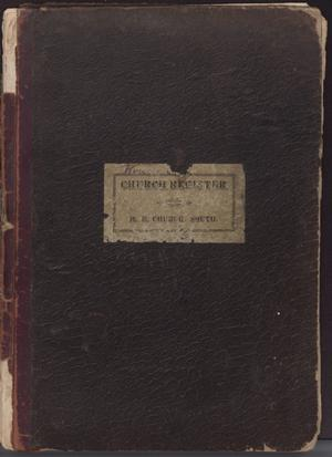 Primary view of object titled 'Church register'.