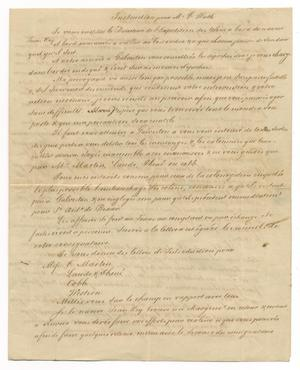 Primary view of object titled '[Document for Ferdinand Louis Huth from Henri Castro, October 27, 1843]'.