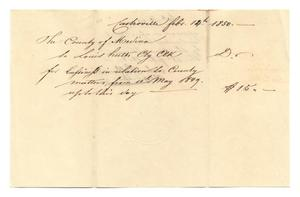 Primary view of object titled '[Document regarding the passage of Act No. 19, February 18, 1850]'.